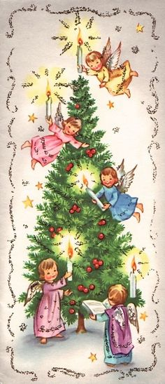 Old Christmas Post Сards — (430x1000)