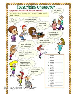Describing character (part 1) worksheet - Free ESL printable worksheets made by teachers