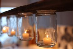 Candle Sconces, Candle Jars, Candle Holders, Candles, Diy And Crafts, Wall Lights, Glass, Home Decor, Lighting