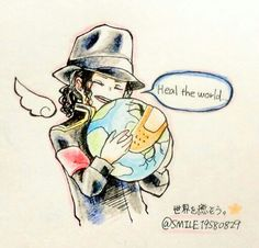 Heal the world ♪ Michael Jackson Drawings, Michael Jackson Wallpaper, Michael Jackson Art, Memes Historia, Earth Song, King Of Music, Peace And Love, My Love, Papi