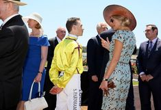 Queen Maxima at Ascot Racecourse on Melbourne Cup Day
