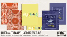 Tutorial Tuesday | Adding Texture | The Digital Press