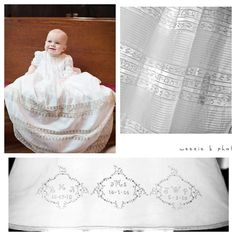Heirloom Christening Gown and hand embroider slip design by Mela Wilson (style 1009) for more information write to my email:mela.wilson2@comcast.net