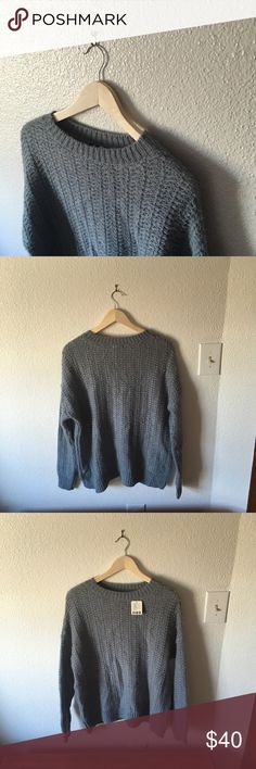 ✨Blue Grey Chunky Sweater✨Urban Outfitters BDG Urban outfitters sweater. Never worn. NWT No picks or tears. Perfect condition. Urban Outfitters Sweaters Crew & Scoop Necks