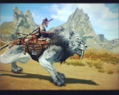 Snowmane Snowlion Mount - ArcheAge #ArcheAge VistaLore daily pics of beauty & imagination GameScapes screenshots gaming games Images pictures Fantasy