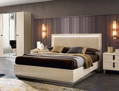 143b156da632 Legno Platform Bed | Sand Birch by ESF Furniture Bespoke Furniture, Luxury  Furniture, Bedroom
