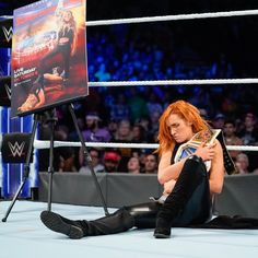 Before putting her SmackDown Women's Championship on the line in a rematch against Charlotte Flair at WWE Super Show-Down, The Irish Lass Kicker has something up her sleeve for the WWE Universe. Becky Lynch, Nxt Divas, Rebecca Quin, Wwe Female Wrestlers, Wwe Girls, Wwe Tna, Raw Women's Champion, Charlotte Flair, Wrestling Divas