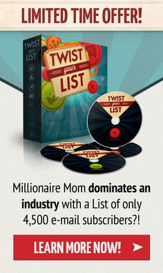 Learn how a millionaire mom dominates the industry with only 4500 email subscriber http://vivette.twistyourlistpro.com/