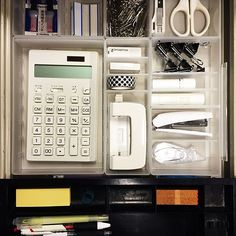 Office Organisation, Desk Organization, Study Rooms, Study Space, Office Phone, Office Desk, Muji Storage, Room Decor Bedroom, Bedroom Ideas