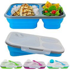 Make lunch better than ever with the Large Collapsible Eco Lunch Kit from SmartPlanet. Lunch Box Containers, Mothers Day Breakfast, Kitchen Gadgets, Kitchen Utensils, Kitchen Stuff, Smart Kitchen, Kitchen Items, Cooking Tools, Cooking Recipes