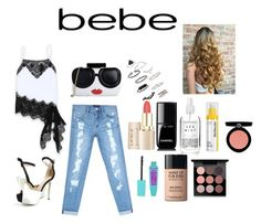 """""""All Laced Up for Spring with bebe: Contest Entry"""" by shyfashionista-clix ❤ liked on Polyvore featuring Bebe, Alice + Olivia, Topshop, Chanel, MAKE UP FOR EVER, StriVectin, MAC Cosmetics, Armani Beauty and alllacedup"""