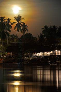 Moonrise over the Mekong