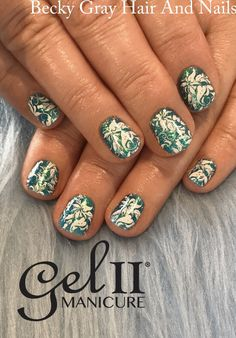 Gelii shore thing with magpie glitter bluebell and stamping #gelii #geltwo #manicure #magpieglitter #showscratch #scratchmagazine #moyou