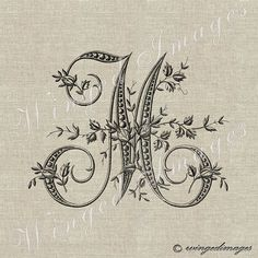 Hey, I found this really awesome Etsy listing at https://www.etsy.com/listing/174058141/antique-french-monogram-letter-m-instant