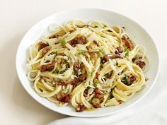 Spaghetti Carbonara {I always separate out some of the yolks to add directly on top at the end- so rich!}