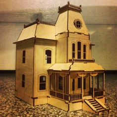 Bates Motel House Kit Miniature Model by VictorianDollhouse