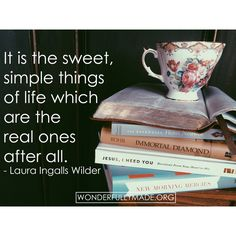 It's the sweet, simple things. #wmade