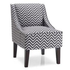 Baby nursery chair grey chevron Wal-Mart