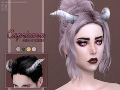 Created By Screaming Mustard [ Capricorn ] - Horn Accessory Created for: The Sims 4 A decorative horn with rings accessory for Sims. Can be found in Necklaces. For females, teen +. Sims 4 Mods Clothes, Sims 4 Clothing, Sims Mods, Sims 4 Teen, Sims Cc, Sims 4 Anime, Sims 4 House Design, Sims 4 Cc Packs, Sims4 Clothes