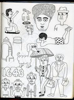 sketchbook by Andy Rementer, via Flickr