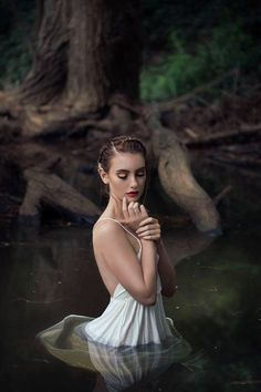 Girl in water, dark beauty magazine, nature water, photography projects, wa Ethereal Photography, Whimsical Photography, Lake Photography, Fantasy Photography, Portrait Photography, Photography Projects, Photography Magazine, Editorial Photography, Debut Photoshoot