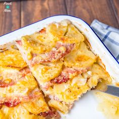 Bacon, Onion and Potato Bake - Pinch Of Nom Slimming Recipes Bacon Recipes, Cooking Recipes, Healthy Recipes, Healthy Food, Free Recipes, Potato Recipes, Chilli Recipes, Easy Recipes, Slimming World Breakfast