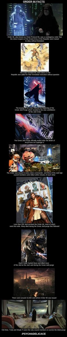 Order Star Wars trivia- this is honestly the only thing the empire did wrong. They destroyed the council, damnit! Sith, Star Wars Personajes, Star Wars Facts, Star Wars Images, Star War 3, Pokemon, The Force Is Strong, Love Stars, Marvel