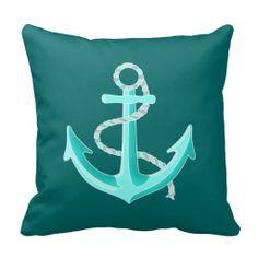 Mint Anchor - Home Pillow