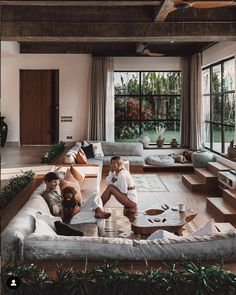 Absolutely in love with these incredible living areas. This is at full strength!⠀ ⠀ Image Bali Villa by and ⠀ Image The Roma House by ⠀ Image Render by ⠀ Image Industrial Loft by ⠀ Image 5 Oxford […] Dream Home Design, Modern House Design, My Dream Home, Home Interior Design, Exterior Design, Interior Architecture, Modern Interior, Bali House, Sunken Living Room