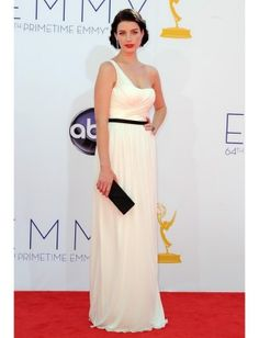 classy. white grecian gown at the emmys.