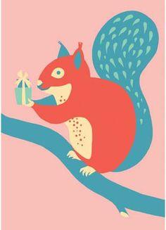 ~Eekhoorn prentenkaart via eennnieuwavontuur~