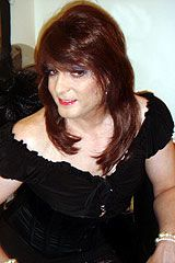 Beautiful #transvestite with auburn hair