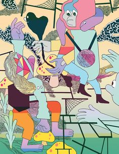 Drawings by artist illustrator Patrick Kyle.