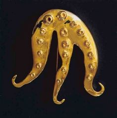 Mlle. Pieuvre (gold brooch) by Dorothea Tanning