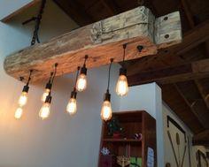 Custom Reclaimed barn beam light fixtures
