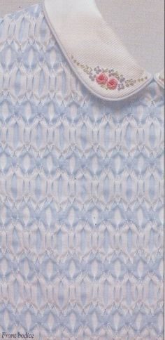 Smocking Index of plates--love the collar embroidery
