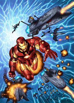 Iron Man (art by Al Rio)