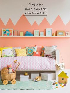 Trend to Try: Half Painted Zigzag Walls - At Home In Love