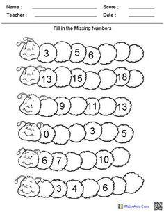 Missing Number Worksheets, Number Bonds Worksheets, Number Worksheets Kindergarten, Subtraction Worksheets, Preschool Math, Worksheets For Kids, Printable Worksheets, Maths, Printable Coloring