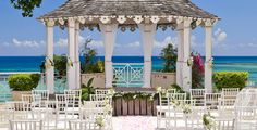 Sandals Royal Plantation, Ocho Rios, Jamaica is the perfect resort for a destination wedding! Imagine getting married at an intimate resort with all ocean view suites perched atop a bluff that overlooks two private white sand beaches and offering a panoramic view of the Ocho Rios Riviera… This resort is absolutely stunning!  || There's still time to register and learn about a destination wedding at tonight's Sandals Caribbean Night!