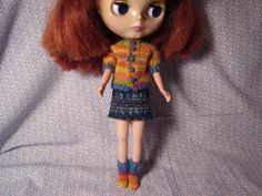 Blythe Multicolored Wool Cardigan and Socks by DollyDressUp, $13.00