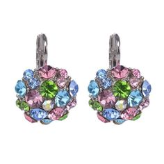 Hot Clip On Earrings For Women Fashion Accessories Silver Plated Multicolor Crystal Rhinestone Statement Clip Earrings Jewelry