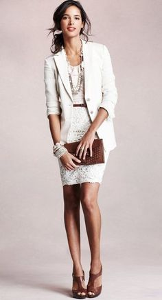 Vestido blanco + saco blanco