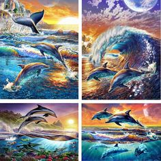 underwater world Diamond painting cross stitch beauty of the dolphins crystal square diamond decorative full diamond embroidery-in Diamond Painting Cross Stitch from Home & Garden on Aliexpress.com | Alibaba Group