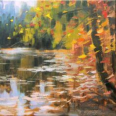 """""""Autumn colors 1"""" - Original Fine Art for Sale - � Chin H Shin"""