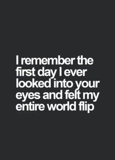 And they still make my world flip
