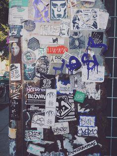 Stickers bombing in Portland