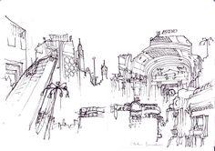 Milan's Stazione Centrale, 2015   ARCHITECTURE SKETCH BLOG