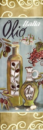 Olives On Beige I by Rebecca Lyon art print