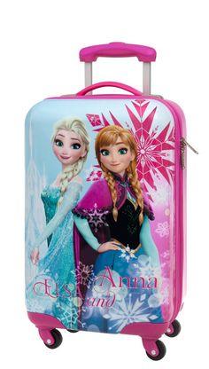 Maleta Frozen modelo Ice de tamaño cabina,  princesas Frozen el reino de hielo, nos traen su maleta tamaño cabina de cuatro ruedas, una maleta para niñas ideal